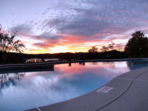 Harbour Point Pool At Sunset